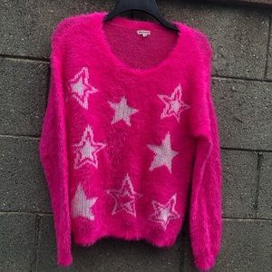Juicy Couture Hot Pink Stars Super Soft Sweater